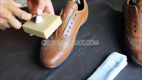 Vệ sinh giày da nâu bị mốc