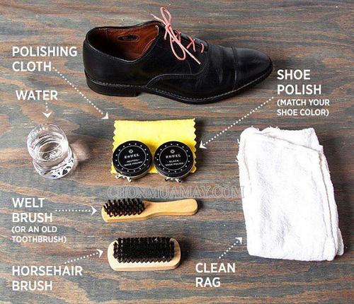Một số dụng cụ cần thiết đánh giày tại nhà