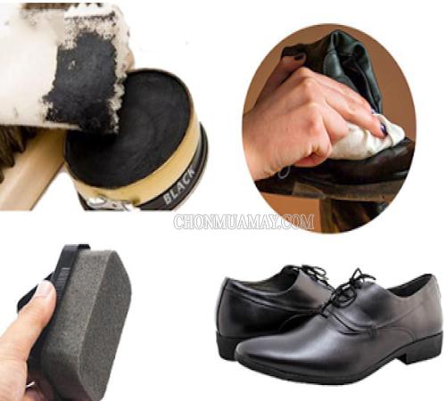 Vệ sinh giày bằng xi đánh giày