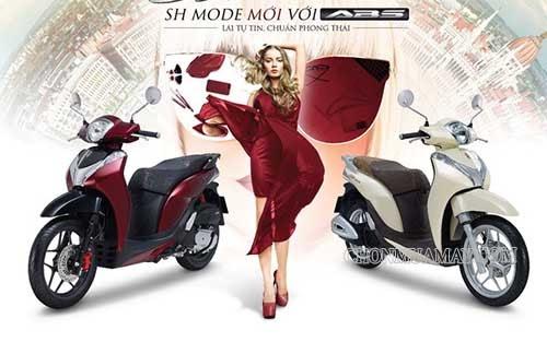 SH Mode mới màu đỏ và trắng ngà nổi bật và tinh tế