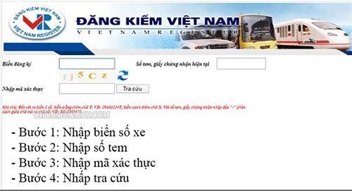 Tra cứu thông tin biển số xe online