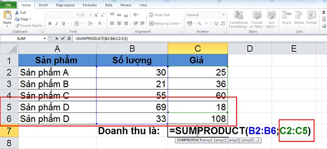 cach-dung-ham-sumproduct-trong-excel