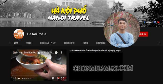 Kênh Youtube Hà Nội Phố của Duy
